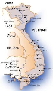 Vietnam-mappa