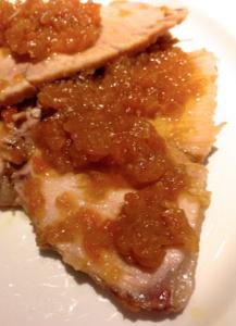 arrosto di maiale con salsa alle mele